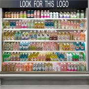 Grocery Store Showcase 3d model