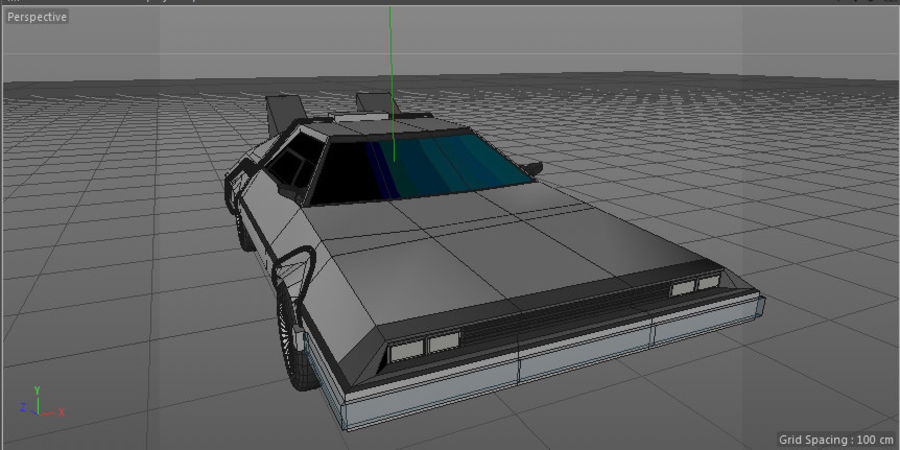 DLM delorean back to the future royalty-free 3d model - Preview no. 5