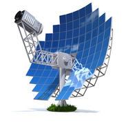 太阳能斯特林发动机 3d model