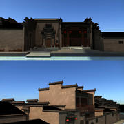 Chinese classical architecture game models 3d model