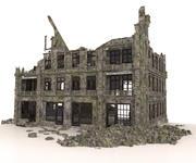古い廃墟の建物黙示録戦争 3d model
