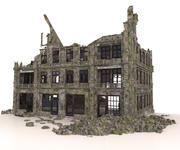 OLD RUINED BUILDING APOCALYPSE WAR 3d model