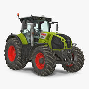 CLAAS AXION Detailed Interior Dirty 3d model