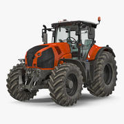 Generic Tractor Detailed Interior Dirty 3d model