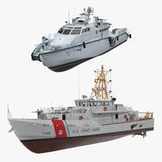 Devriye veya Bekçi Gemileri Koleksiyonu 3d model