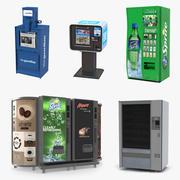 Kolekcja automatów do sprzedaży 2 3d model