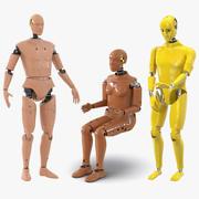 Rigged Crash Test Dummies 3D 모델 컬렉션 2 3d model