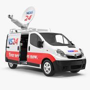 Opel Vivaro Tv News Car Rigged 3D Модель 3d model