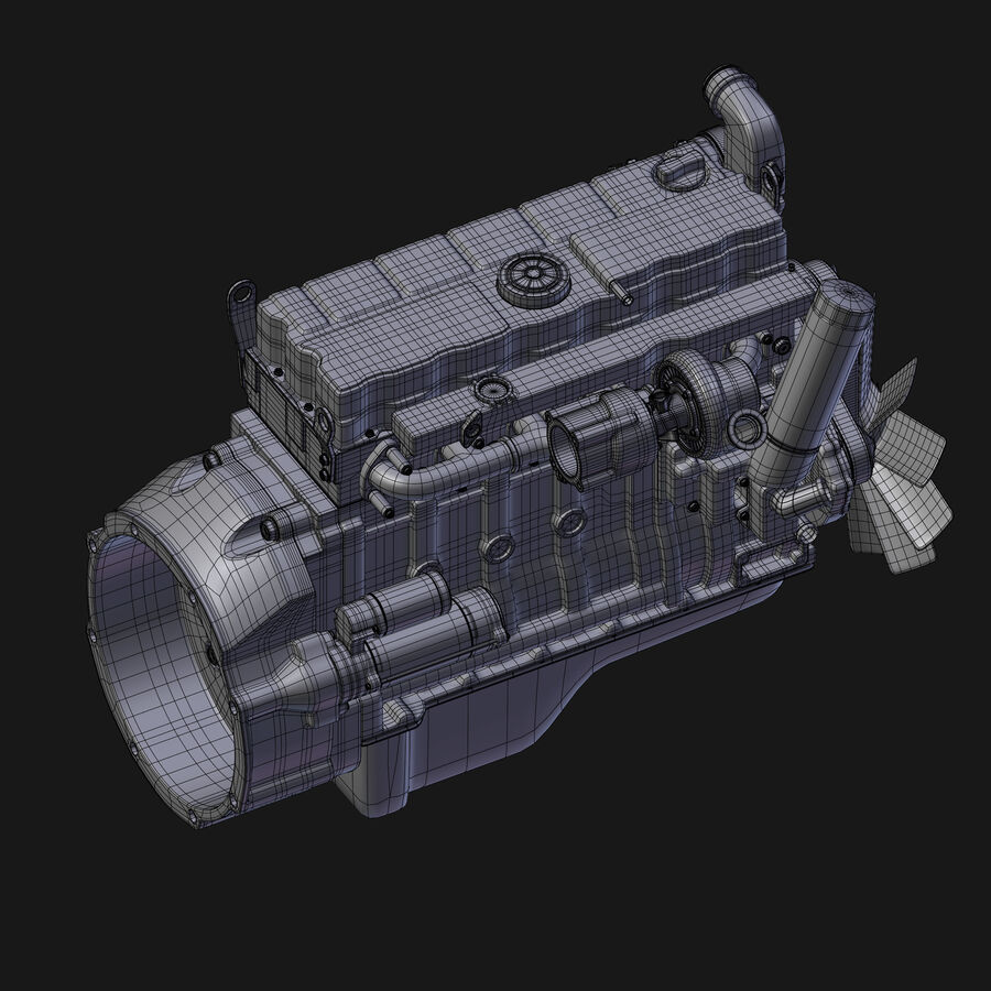Car Engine royalty-free 3d model - Preview no. 7