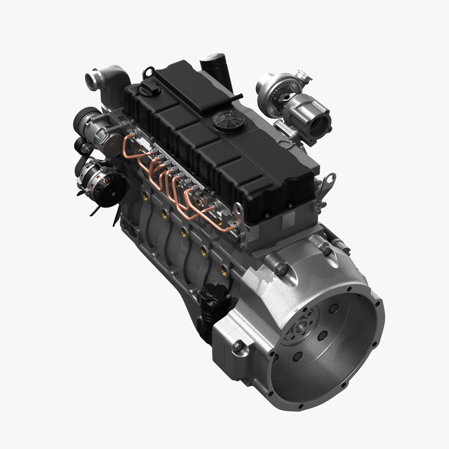 Car Engine royalty-free 3d model - Preview no. 3