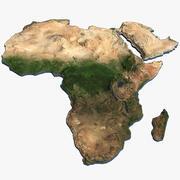 Africa continente mappa 3d model