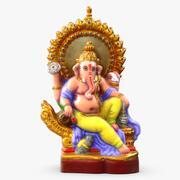 Ganesha Renkli Heykel 3d model