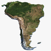 South America Continent Map 3d model