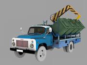 Gaz 53 dump kontainer 3d model