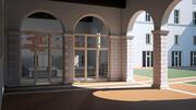 历史建筑中的现代办公室 3d model
