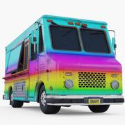 Voedsel Truck 3d model