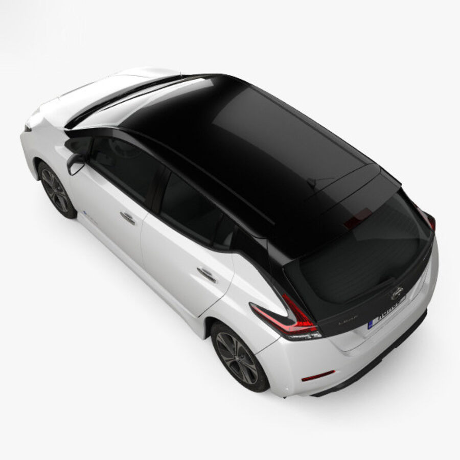 Nissan Leaf 2018 royalty-free modelo 3d - Preview no. 9