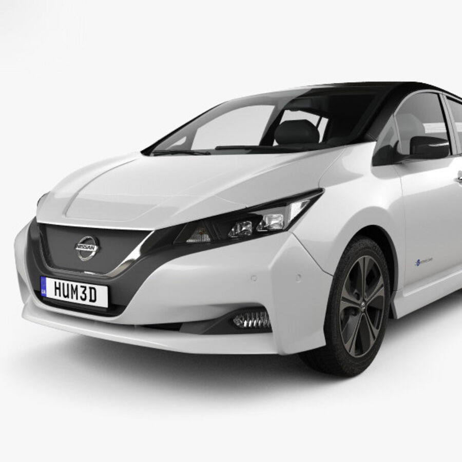 Nissan Leaf 2018 royalty-free 3d model - Preview no. 6