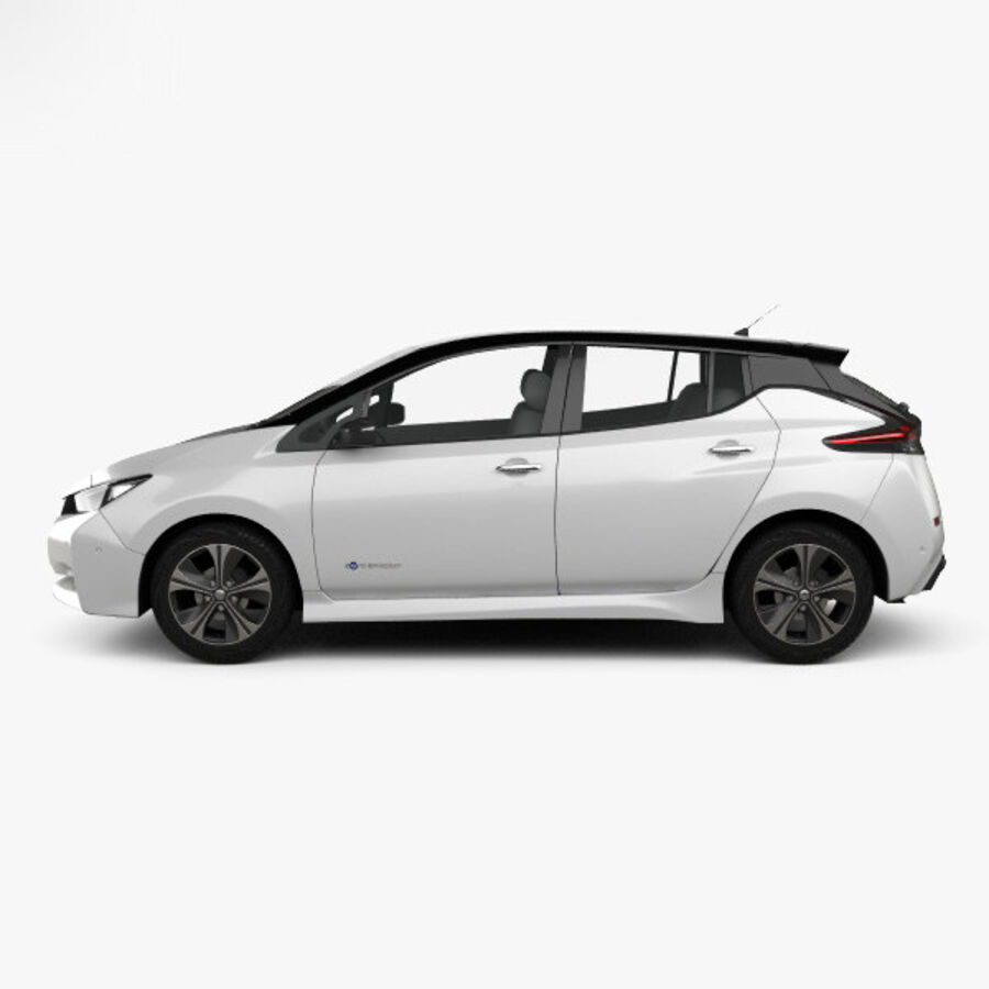 Nissan Leaf 2018 royalty-free 3d model - Preview no. 5