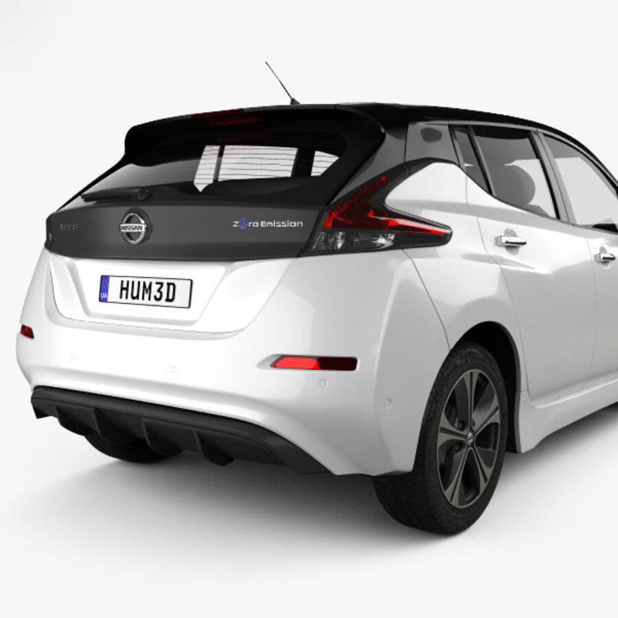 Nissan Leaf 2018 royalty-free 3d model - Preview no. 7
