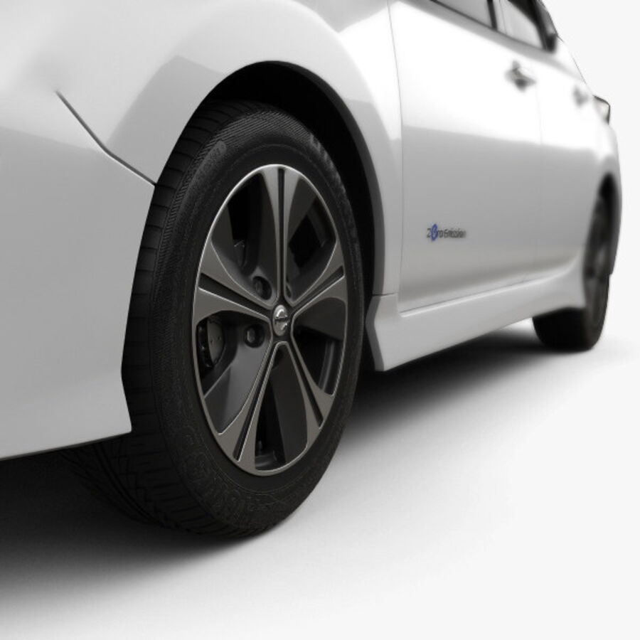 Nissan Leaf 2018 royalty-free 3d model - Preview no. 8