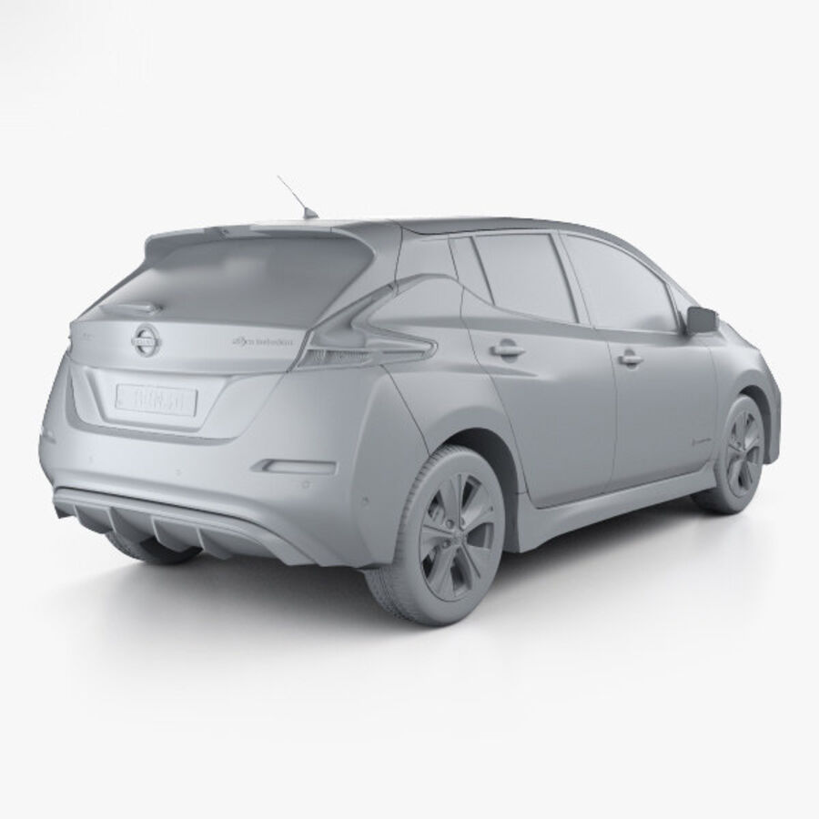 Nissan Leaf 2018 royalty-free modelo 3d - Preview no. 12