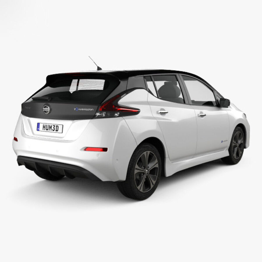 Nissan Leaf 2018 royalty-free 3d model - Preview no. 2