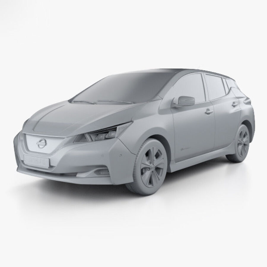 Nissan Leaf 2018 royalty-free modelo 3d - Preview no. 11