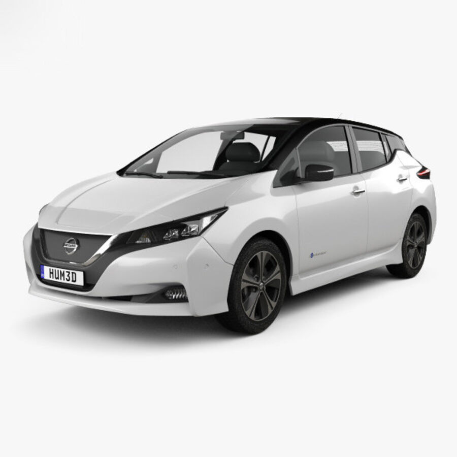 Nissan Leaf 2018 royalty-free 3d model - Preview no. 1