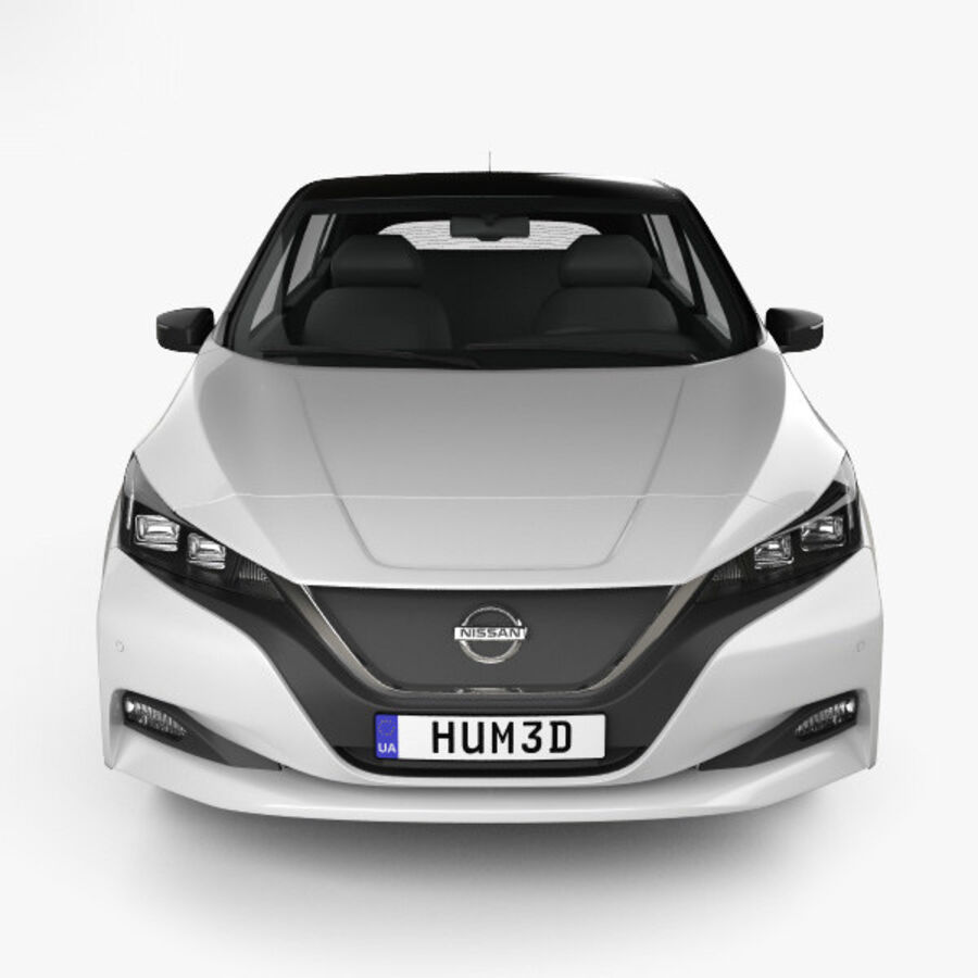 Nissan Leaf 2018 royalty-free modelo 3d - Preview no. 10