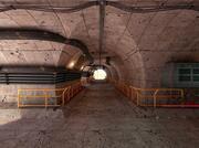 Scène II du tunnel de science-fiction 3d model