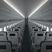 Cabina de avión V3 modelo 3d