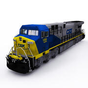 GE locomotive CSX 2 3d model