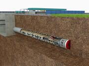 Tunnel Boring Machine Scence 3d model