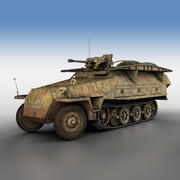 SD.KFZ 251/7 Ausf.D - Assault-Engineer Vehicle - 1130 3d model