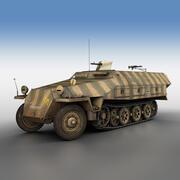 SD.KFZ 251/1 Ausf.D - Half-track - 104 3d model