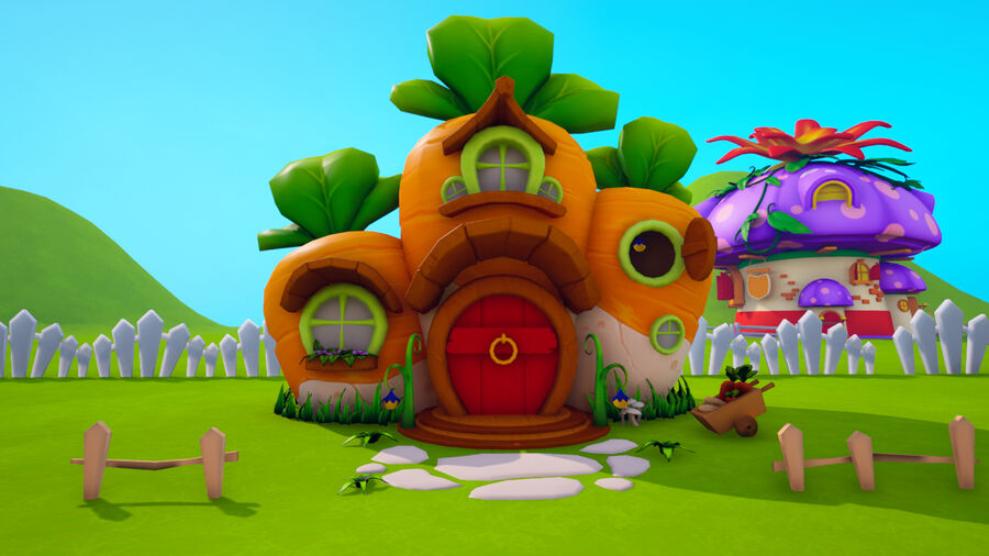 Asset - Cartoons - Background- Farm - Hight Poly 3D model royalty-free 3d model - Preview no. 13