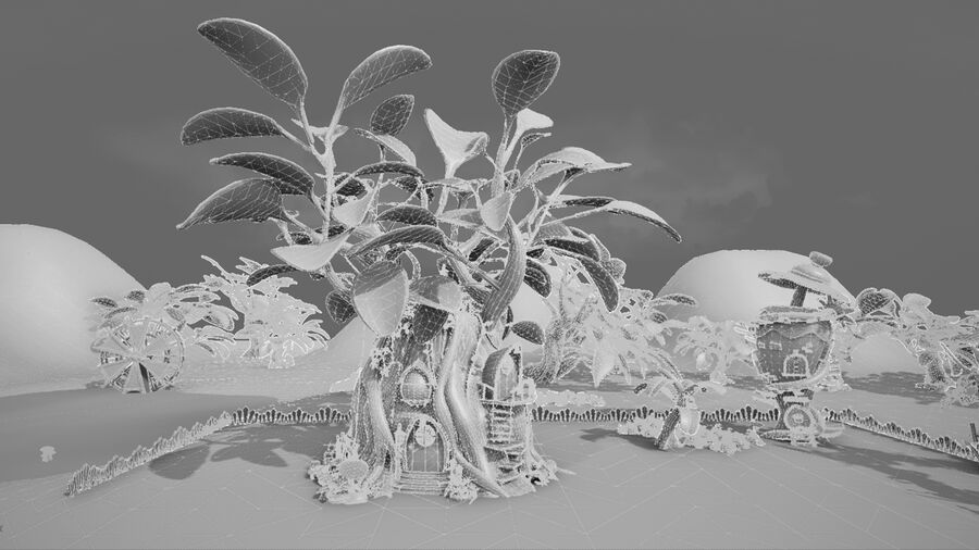 Asset - Cartoons - Background- Farm - Hight Poly 3D model royalty-free 3d model - Preview no. 18