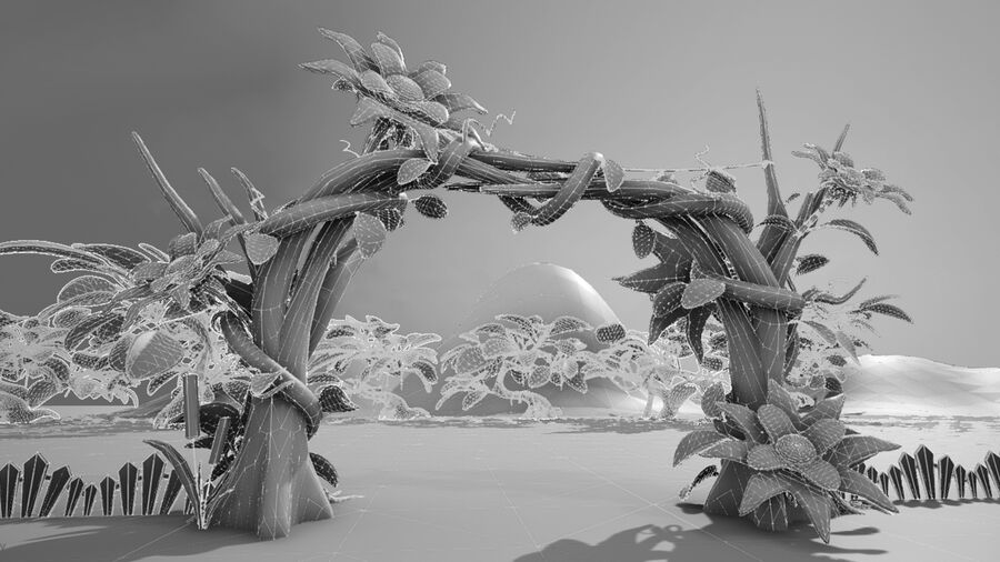 Asset - Cartoons - Background- Farm - Hight Poly 3D model royalty-free 3d model - Preview no. 20