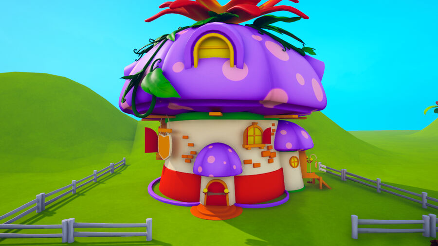 Asset - Cartoons - Background- Farm - Hight Poly 3D model royalty-free 3d model - Preview no. 14