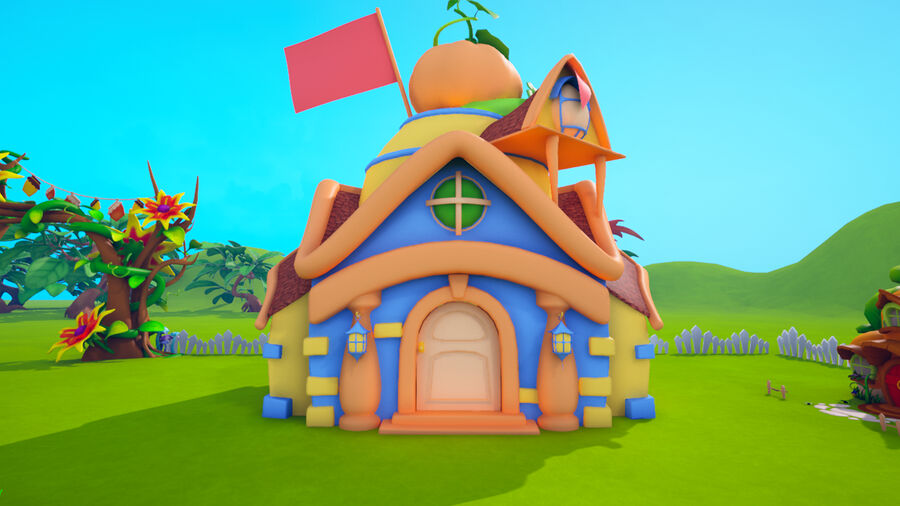 Asset - Cartoons - Background- Farm - Hight Poly 3D model royalty-free 3d model - Preview no. 12
