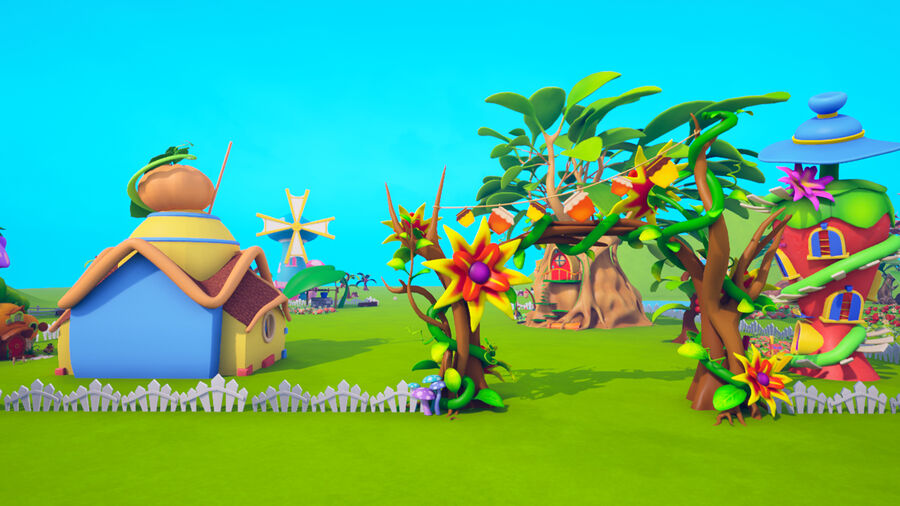 Asset - Cartoons - Background- Farm - Hight Poly 3D model royalty-free 3d model - Preview no. 10
