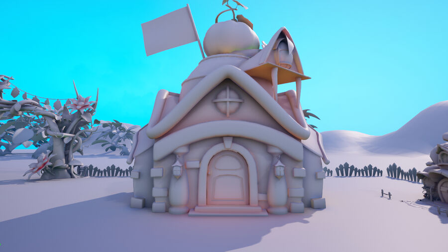Asset - Cartoons - Background- Farm - Hight Poly 3D model royalty-free 3d model - Preview no. 4