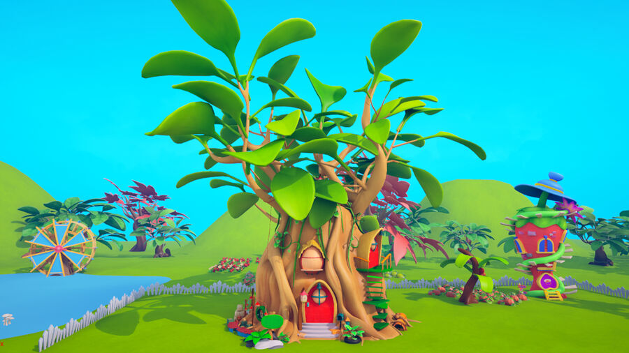 Asset - Cartoons - Background- Farm - Hight Poly 3D model royalty-free 3d model - Preview no. 15
