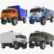 Kamaz Trucks Sammlung 3d model