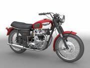Triumph Bonneville T120 60s 3d model