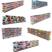 Coleção de estantes de supermercado 3d model