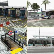 City Element Scene Collection 3d model