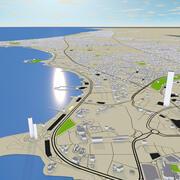 Mapa ulic miasta Kuwejt 3D 3d model