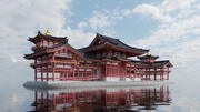 Templo Byodoin no Japão 3d model